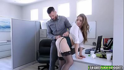 Lena Paul getting her vagina fuck sideways by  Mike Mancinis long cock!