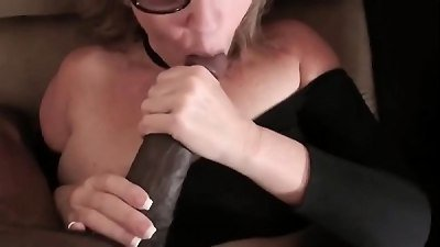 PAWG mature trained by long BBc
