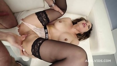 Francys Belle nuts Deep Anal, thick Gapes and spunk drink GL325