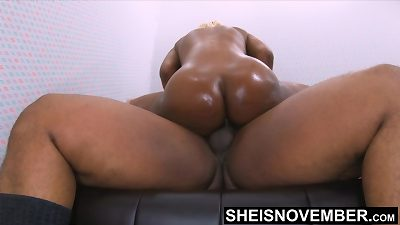 4k Msnovember excruciating ass fucking switch sides Cowgirl riding buttfuck on ebony stepdad big black cock With grease dribbling Down Her BlackAss Cheeks moaning on Sheisnovember